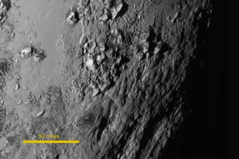 Equatorial region of Pluto